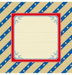usa background with stars and decorative frames vector image