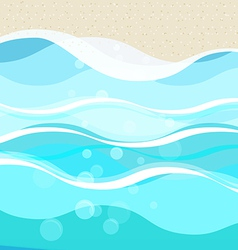 Vacation beach concept vector image