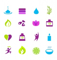 Water wellness and zen icons vector