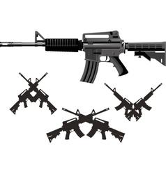 American Assault Gun vector image