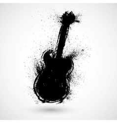 Grunge styled guitar vector image