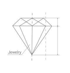 Diamond graphic scheme vector