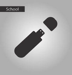 Black and white style icon flash drive vector