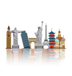 Iconics monuments of the world vector