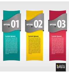 Vertical banner with numbered vector
