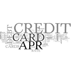 Apr credit card truths and traps text word cloud vector