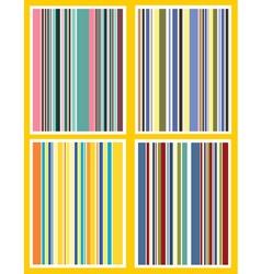 retro stripes vector image