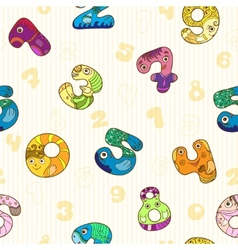 Seamless pattern with colorful funny figures vector image