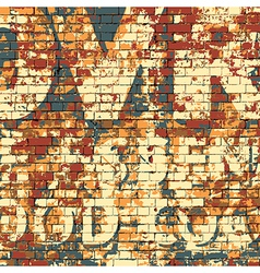 Old grunge brick wall vector