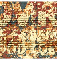 Old Grunge Brick Wall vector image