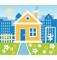 Town house vector