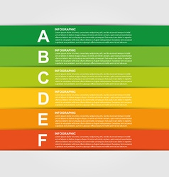 Colorful infographic design element vector