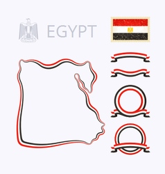 Colors of egypt vector