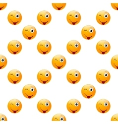 Smile emoji seamless vector