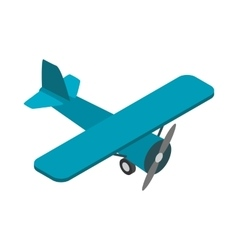 Light aircraft icon isometric 3d style vector
