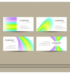 AbstractBusinessCards vector image vector image