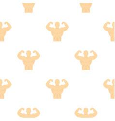 Athlete pattern flat vector
