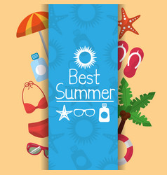 best summer poster vacations travel tourism banner vector image
