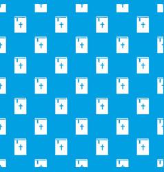 Bible pattern seamless blue vector