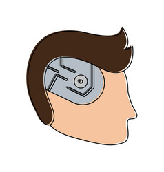 Bionic human head artificial intelligence related vector