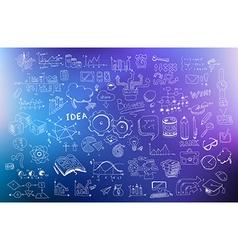 Business Development concept background wih Doodle vector image