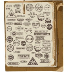 Collection of rubber stamps vector