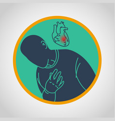 coronary artery disease icon vector image
