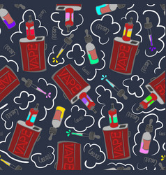dark vape seamless pattern vector image