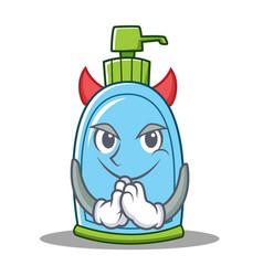 Devil liquid soap character cartoon vector