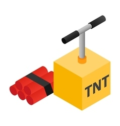 Dynamite isometric 3d icon vector