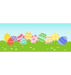 Easter Egg in Row vector image vector image