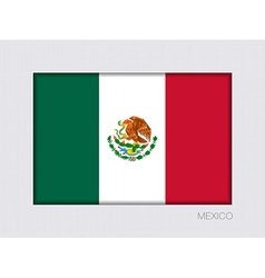Flag of mexico aspect ratio 2 to 3 vector