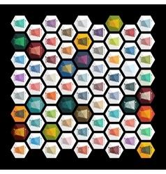Flat design xylophone vector image