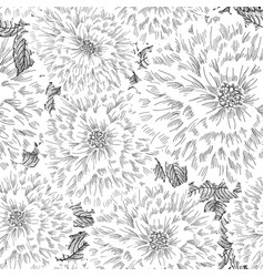 Floral seamless pattern flower sketch chinese vector