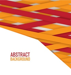 Geometric ribbon background vector image vector image