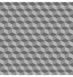 Grey geometric seamless cubes pattern background vector image vector image