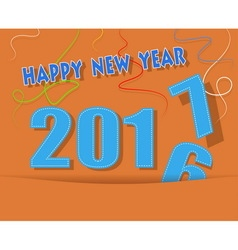 happy new year card with ribbon vector image