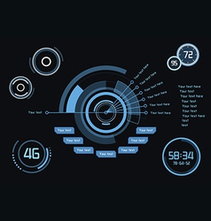 Infographics as head-up display vector