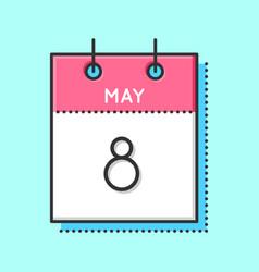 may calendar icon vector image