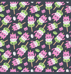 mochi seamless pattern vector image