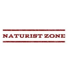 Naturist zone watermark stamp vector