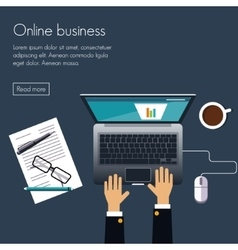 Online business vector image vector image