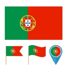 Portugal country flag vector image vector image