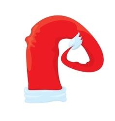 Santa hat icon isolated on white santa hat vector image