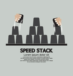 Speed Stack Playing vector image
