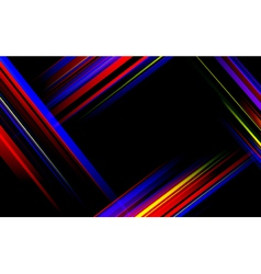 Striped abstract design on dark background vector