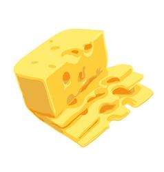 swiss cheese vector image