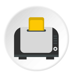 Toaster icon circle vector