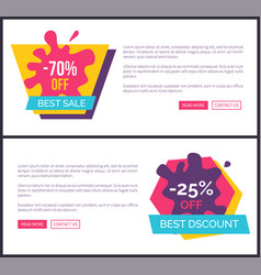 -70 off best sale promotional labels with blots vector image
