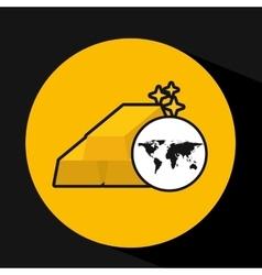 map world business bar gold design vector image